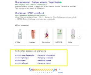 shampoing recherches associées