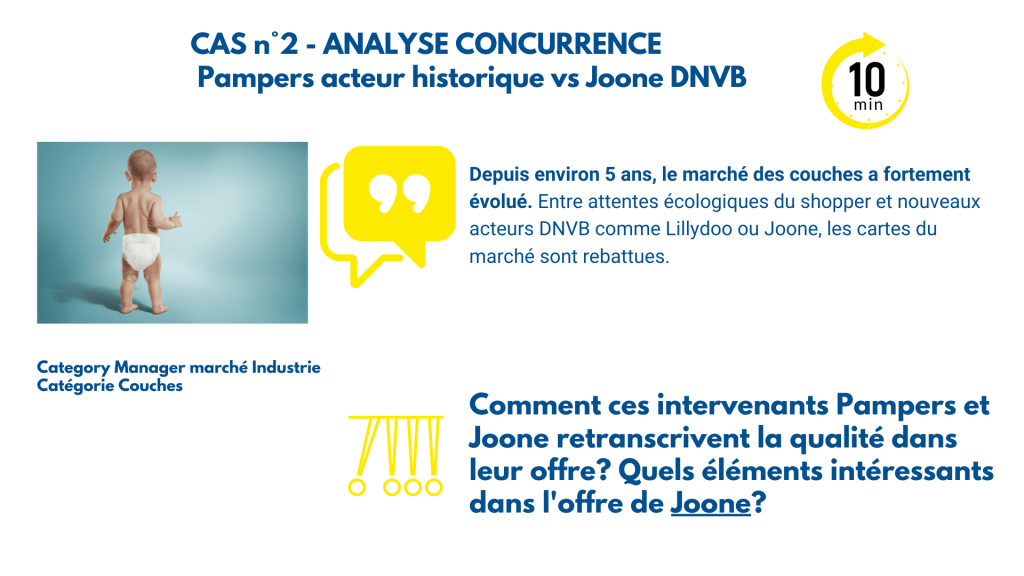 Analyse marketing Pampers vs Joone